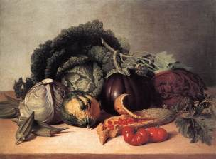 Peale, Still Life Balsam Apples and Vegetables