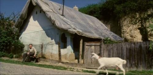 deda ispred kuće